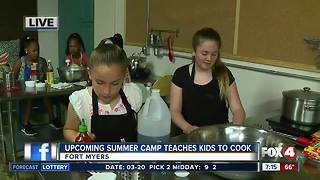 Summer camp teaches kids how to cook -- 7am live report