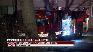 Fire breaks out at Waukesha apartment complex - Video