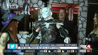 The Red Headed Witches Help with Halloween Costumes - Video