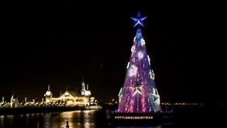 Victorian City Kicks off Festive Season With Floating Christmas Tree - Video
