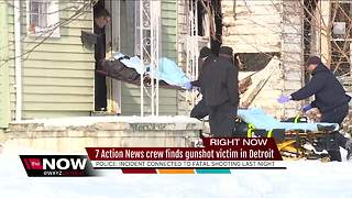 7 Action News crew calls 911 after finding gunshot victim in Detroit - Video