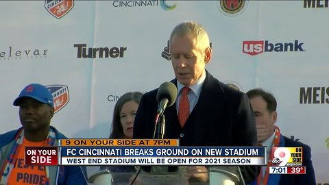 FC Cincinnati breaks ground on new stadium