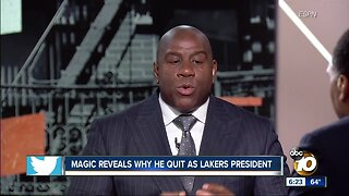 Why Magic quit Lakers