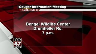 Wildlife conservancy to meet about cougar concerns