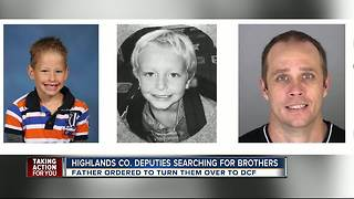 Deputies search for two young brothers missing in Highlands County - Video
