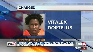 Three Charged in Armed Home Invasion