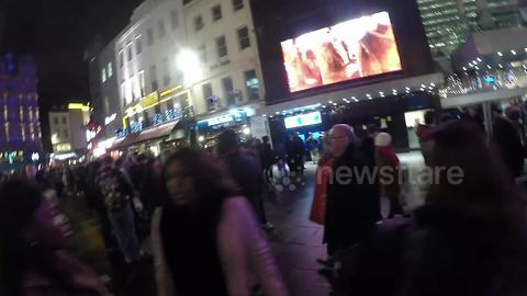 Huge queue in Leicester Square, London to see new Star Wars film