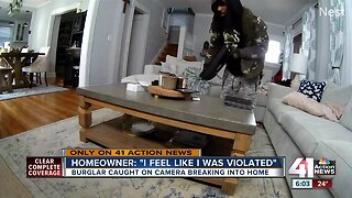 Burglar caught on camera breaking into home