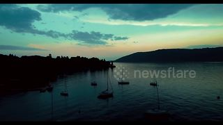 Stunning aerial footage of Lake Maggiore, Italy - Video