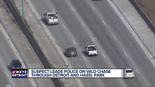 Dramatic police chase ends in arrest in Hazel Park