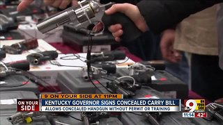 Kentucky governor signs unlicensed concealed carry bill