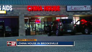Dirty Dining: China House temporarily shut down for 50+ live & dead roaches in the kitchen - Video