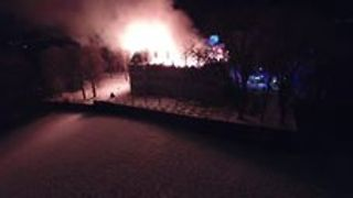 Aerial Footage Shows Blaze Destroying French Chateau