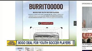 Soccer players can score BOGO deal at Chipotle - Video