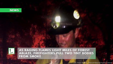 As Raging Flames Light Miles of Forest Ablaze, Firefighters Pull Two Tiny Bodies from Smoke