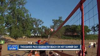 Clevelanders spent their Sunday at the beach