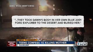 Pahrump teens confess to killing mother