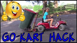 Go-Kart Rubbish Bin Hack - Make Science Fun - Video