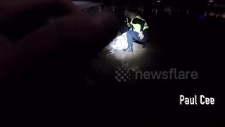 Woman pulled from sea in Bournemouth in early-morning rescue - Video