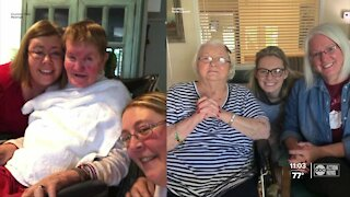 Families wait to see their loved ones in long-term care facilities