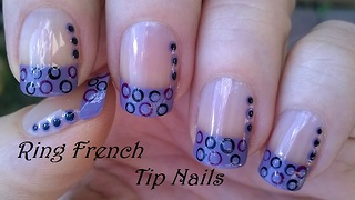 French Manicure With Dotticure Nail Art - Video