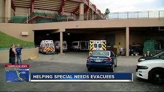 USF Sun Dome opens as shelter for people with special needs ahead of Irma - Video