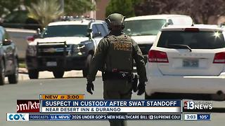 Standoff ends near Desert Inn and Durango - Video