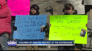 Group protests out-of-state inmate transfers - Video