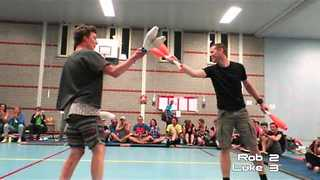 Guys Go Head-to-Head in Juggling Fight - Video