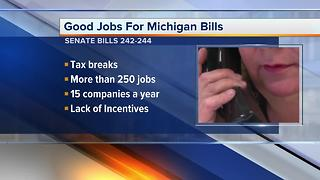 Governor Snyder gives support for bills he believes are critical at bringing jobs to MI