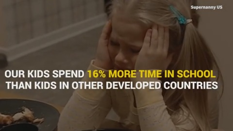 American Kids Spend Too Much Time In School