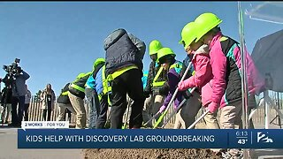 Kids Help With Discovery Lab Groundbreaking