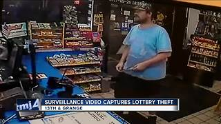 Thief steals $500 worth of lottery tickets from south side gas station - Video