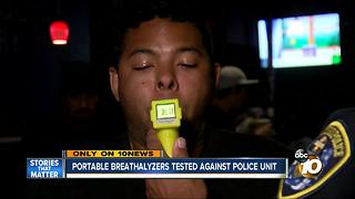 Portable breathalyzers tested against police unit - Video