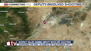 Suspect killed during deputy-involved shooting near California City