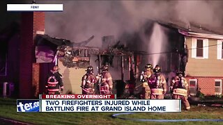 Two firefighters injured battling early Tuesday morning fire on Grand Island