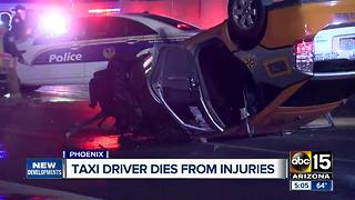 Phoenix taxi driver dies from injuries in crash - Video