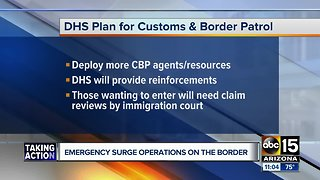 DHS: More personnel headed to border 'to combat the growing security and humanitarian crisis'