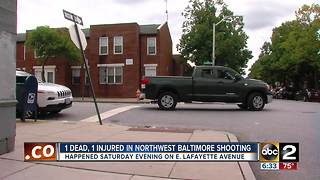 1 man shot, 1 person dead after shooting in East Baltimore - Video