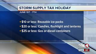 Storm supply tax holiday - Video
