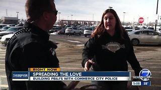 Commerce City police are spreading the love throughout town
