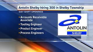 Antolin Shelby hiring 300 in Shelby Township - Video