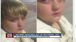 Winter Haven family claims Walmart kicked young boy with muscular condition out of motorized cart - Video