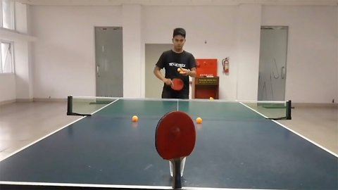 Guy shows off mad ping pong trick shot skills