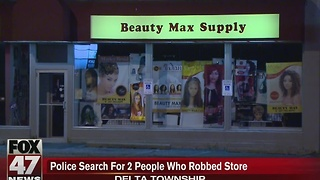 Beauty supply store robbed in Delta Township - Video
