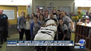 Paralyzed detective talks about recovery, surprise fundraiser to buy new wheelchair - Video