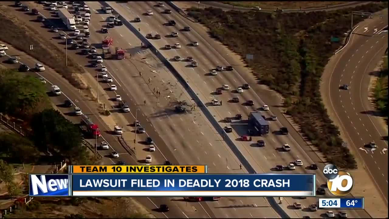 Lawsuit filed over deadly wrong-way crash