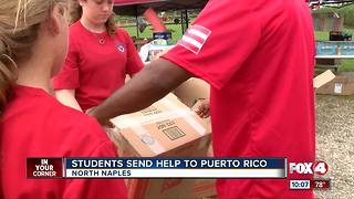 Students pitch in to help Puerto Rico - Video