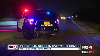 Pedestrian killed in overnight crash - Video