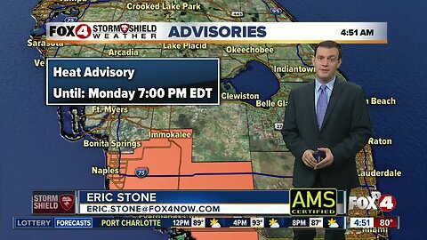 Forecast: Another hot and humid day with highs in the 90's